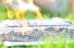 BBQ πυρκαγιά Στοκ Φωτογραφίες