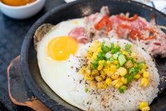 BBQ ρύζι πιπεριών βόειου κρέατος Στοκ φωτογραφία με δικαίωμα ελεύθερης χρήσης