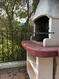BBQ σε έναν κήπο στην Ισπανία στοκ εικόνες