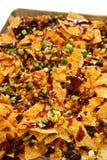 BBQ τυρί Cheddar Nacho Στοκ Φωτογραφίες