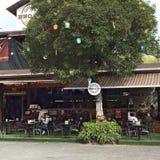 BBQ & φραγμός και εστιατόριο κοβαλτίου στο Κουίτο, Ισημερινός Στοκ εικόνα με δικαίωμα ελεύθερης χρήσης