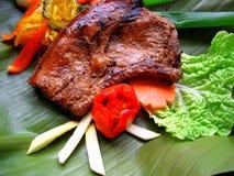 bbq χοιρινό κρέας μπριζολών Στοκ Εικόνα