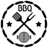 BBQ ύφους γραμματόσημο επιλογών σχαρών απεικόνιση αποθεμάτων