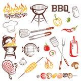 BBQ, барбекю иллюстрация вектора