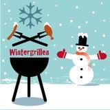 Bbq зимы бесплатная иллюстрация