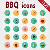 BBQ Комплект значка иллюстрация вектора