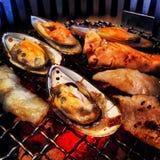 BBQ морепродуктов Стоковая Фотография RF