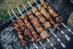BBQ, предпосылка весны Стоковое Фото