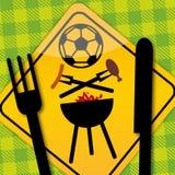 BBQ футбола иллюстрация вектора