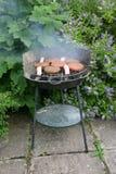 BBQ. Small domestic Barbecue Stock Photo