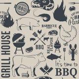 Картина BBQ безшовная Стоковые Изображения