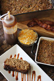 BBQ Bacon Cheddar Meatloaf Dinner Vertical Stock Photo