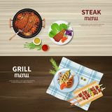 BBQ Banners Set Stock Image