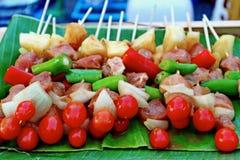 ` BBQ/Bar-B-Q/Barbecue ` Uliczny jedzenie W Tajlandia zdjęcia royalty free