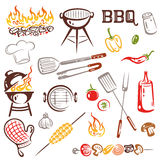 BBQ, barbecue Fotografie Stock Libere da Diritti
