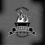 BBQ barbecue logo emblem design Royalty Free Stock Photos