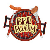 Bbq Barbecue Party Poster Royalty Free Stock Photo