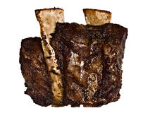 Bbq beef short rib isolated Stock Photography