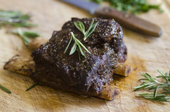 BBQ Beef short ribs Royalty Free Stock Photography