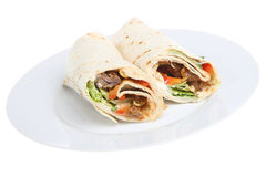 BBQ Beef Wrap Stock Photography