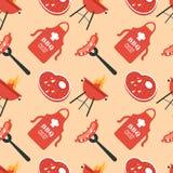 BBQ Bezszwowy wzór Obrazy Stock