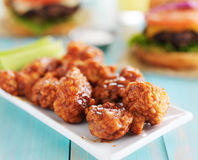 Bbq boneless chicken on a plate stock image