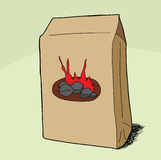 BBQ Briquets Bag Stock Photo