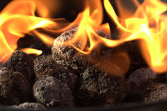 BBQ Briquettes Royalty Free Stock Photography