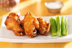 Bbq buffalo chicken wings Stock Photo