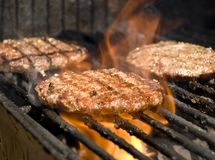 BBQ burger stock photo
