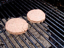 BBQ Burgers Stock Photography
