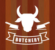 Bbq and butchery theme Stock Image