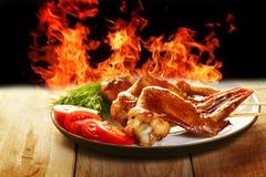 BBQ caldo del pollo Immagine Stock