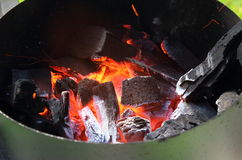 BBQ Charcoal Fire Stock Images