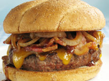 BBQ Cheeseburger With Bacon Royalty Free Stock Photo