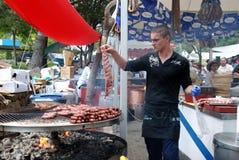 BBQ chef, Marbella. Stock Photo