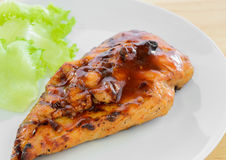 BBQ Chicken Breast with vegetable Royalty Free Stock Images