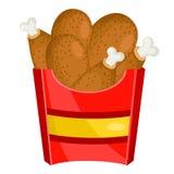 BBQ chicken drumsticks Stock Photo