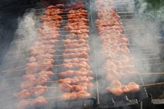 BBQ Chicken on Grill. BBQ Barbecue Chicken on Grill royalty free stock images