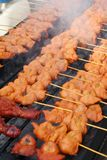 BBQ Chicken on Grill. BBQ Barbecue Chicken on Grill stock photos