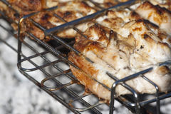 BBQ Chicken on grill Royalty Free Stock Photos