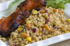 BBQ Chicken & Rice Royalty Free Stock Image