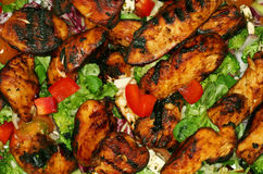 BBQ chicken salad Royalty Free Stock Image
