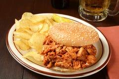 BBQ chicken sandwich Stock Photos