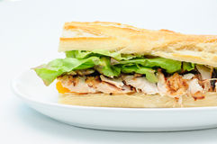 Bbq chicken sandwich Royalty Free Stock Image