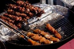 BBQ - Chicken on a stick Stock Photos