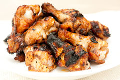 Bbq chicken wings. With sauce, grilled and tasty finger food Royalty Free Stock Image