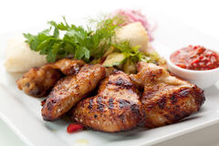 BBQ Chicken Wings Stock Images