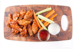 Bbq chicken wings. Oven roasted bbq chicken wings healthy baked instead of fried Stock Photos