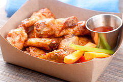 Bbq chicken wings. Oven roasted bbq chicken wings healthy baked instead of fried Stock Photo